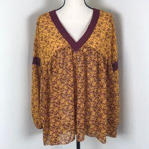 Lane Bryant Sheer Floral Top Size 14/16